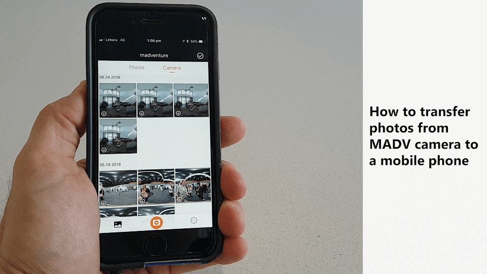 How to transfer 360 photos from MADV Camera to a mobile phone