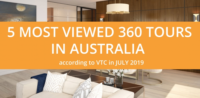 5 most viewed Virtual Tours in Australia according to VTC in July 2019