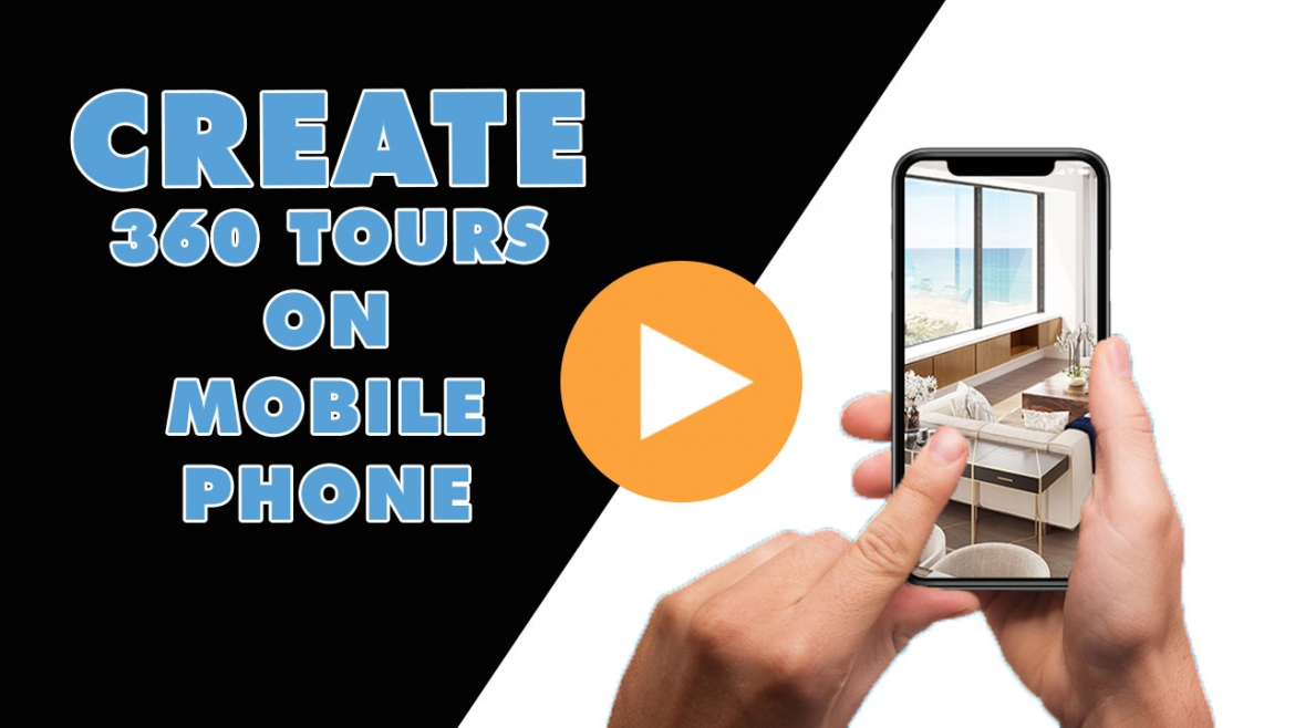 NEW FEATURES ! Create a virtual tour on mobile phone.
