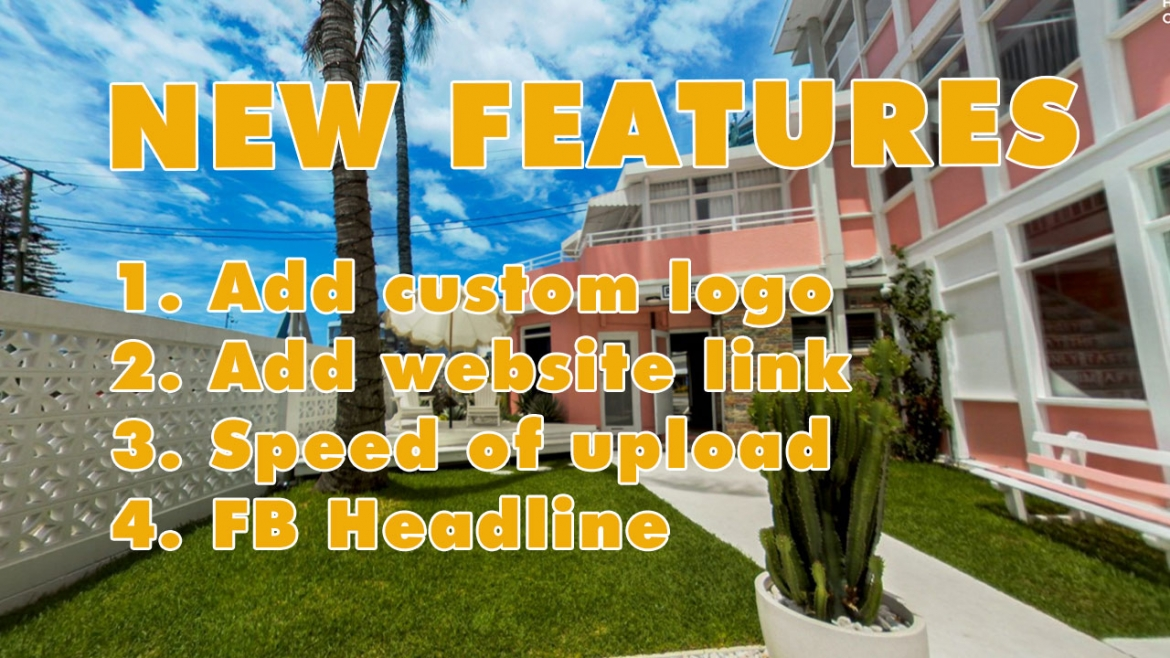 New features – Custom logo in 360 virtual tours !