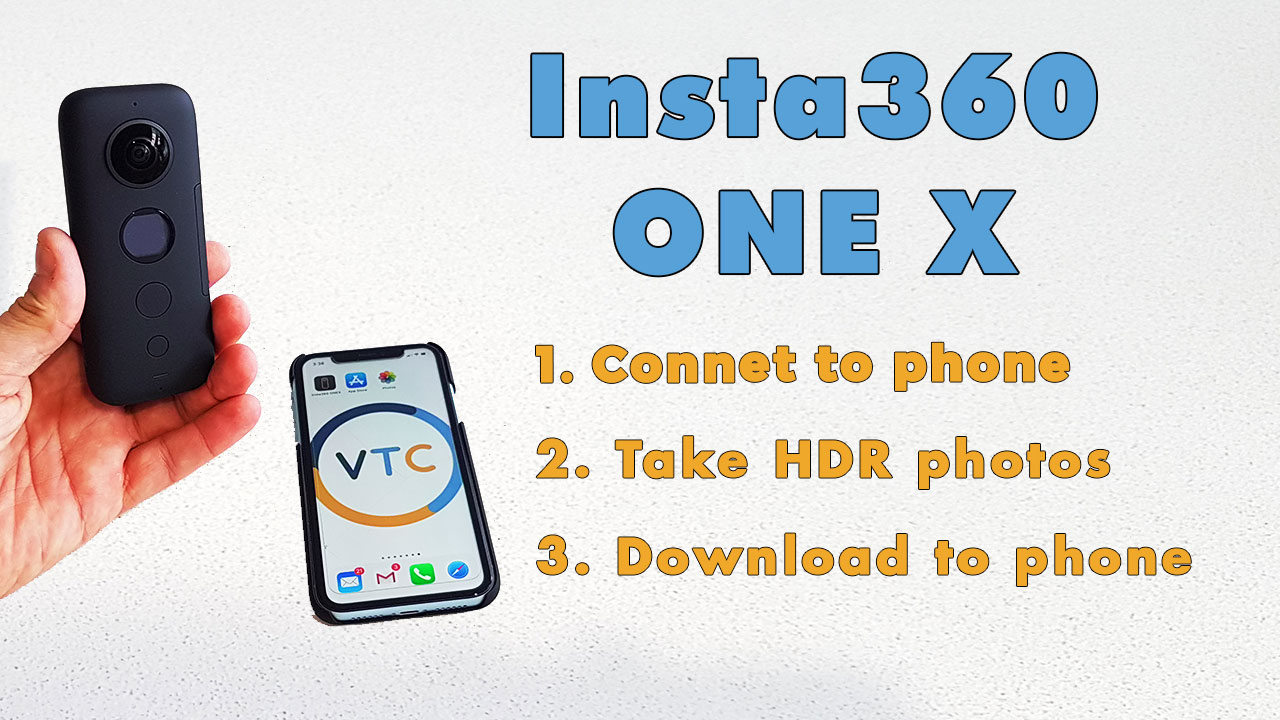 How to connect Insta360 ONE X camera to a mobile phone, take HDR photos and download them to your phone.