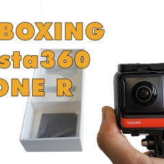 Insta360 OneR unboxing, assembly and gyro calibration for 360 virtual tours in real estate